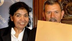 La dirigente social Margarita Barrientos y su marido, Isidro Antúnez, en 2013