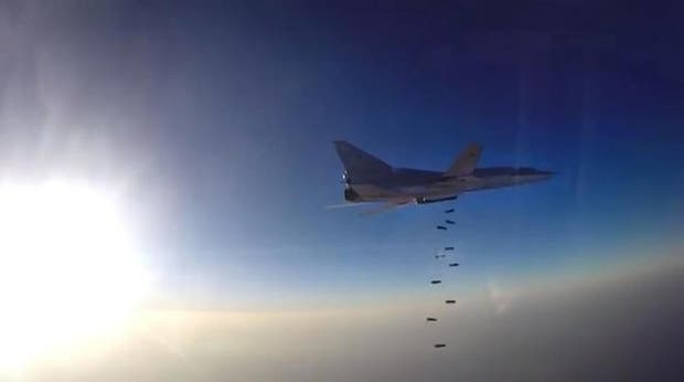 Imagen de archivo de un caza Tupolev Tu-22M3, parecido a los interceptados por EE.UU.