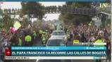 El Papa recorrió las calles de Colombia