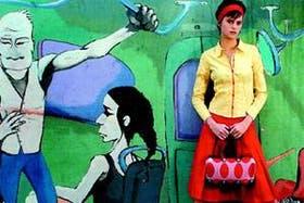 Camisa (Varanasi, 120), pollera tableada (María Cher, 139), vincha (Babel, 35), cartera combinada (Perfectos Dragones, en Salsipuedes Condimentos, 119) y zapatos de charol (Josefina Ferroni, 170)