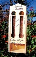 Un dispensador del salame de Chajarí, poco famosa por sus embutidos