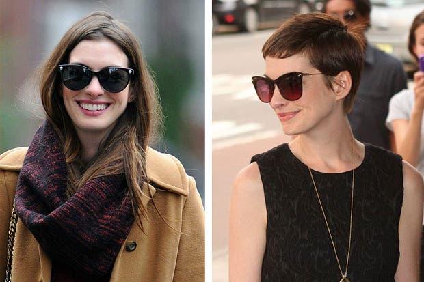 Anne Hathaway se cortó el pelo para protagonizar el musical Los miserables. Foto: celebritieswonder.net