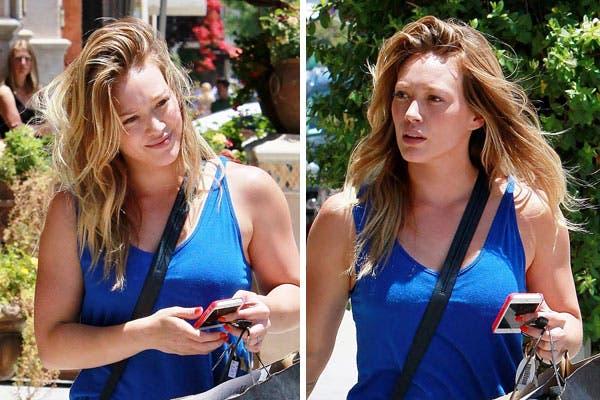 Una Hilary Duff casi irreconocible, con el pelo peinado (¿peinado?) hacia todos lados. Foto: Celebritieswonder.net