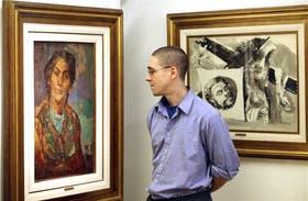 Santiago Castagnino evoca a su abuelo en un recorrido por la exposición que lo homenajea en Witcomb