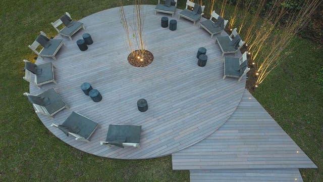 Jardín principal realizado por Juan Caram, Diego Segoura, Flavio Dominguez y Gaby Lopez