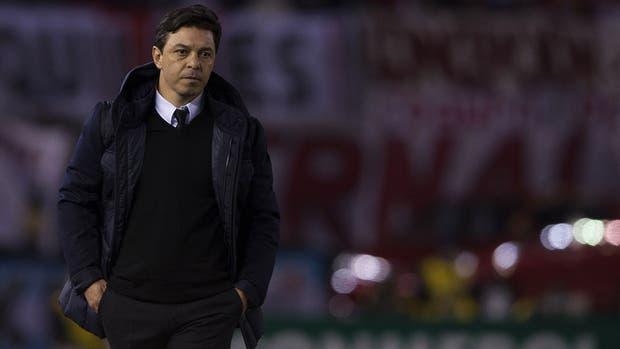 Marcelo Gallardo, con su cuerpo técnico