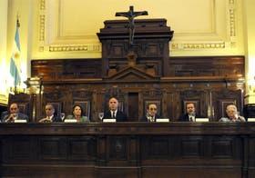 La Corte Suprema, durante el acto de apertura del año judicial