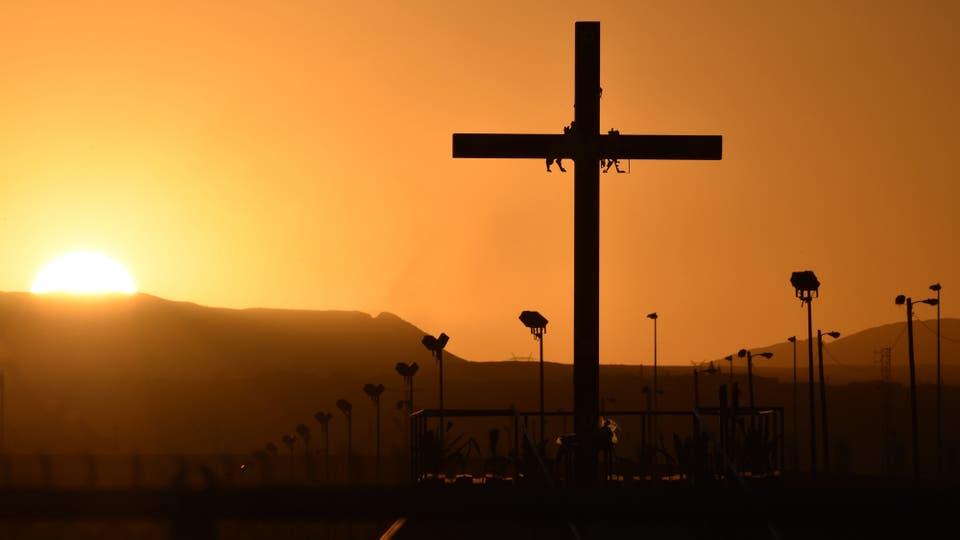 La última misa de Francisco antes de irse de México. Foto: AFP
