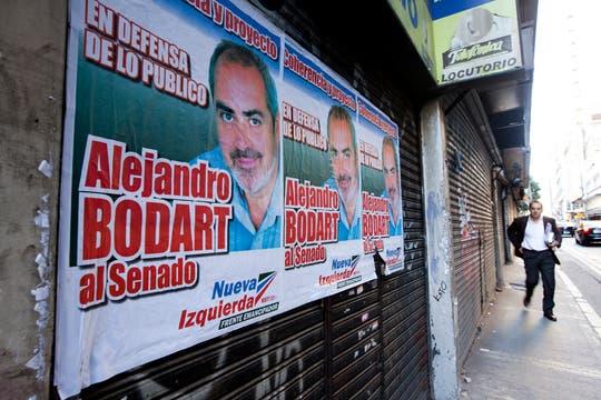 Como parte de un frente de izquierda, Alejandro Bodart (MST) quiere acceder a una banca en el Senado. Foto: LA NACION / Ezequiel Muñoz