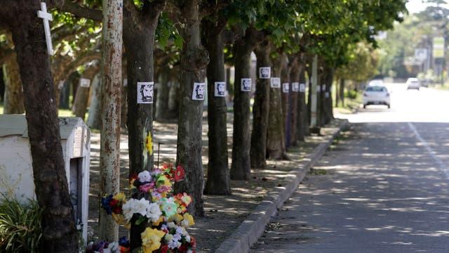 Las calles de 25 de Mayo con Carteles de Santiago Maldonado