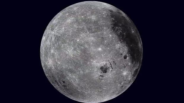 La luna, desde una órbita de la NASA