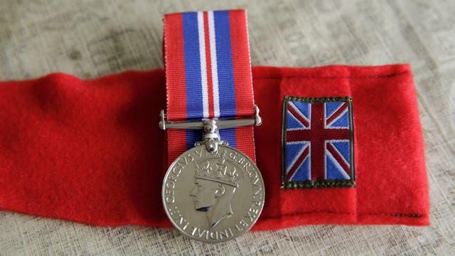 Condecoraciones de su paso por el ejército como voluntario