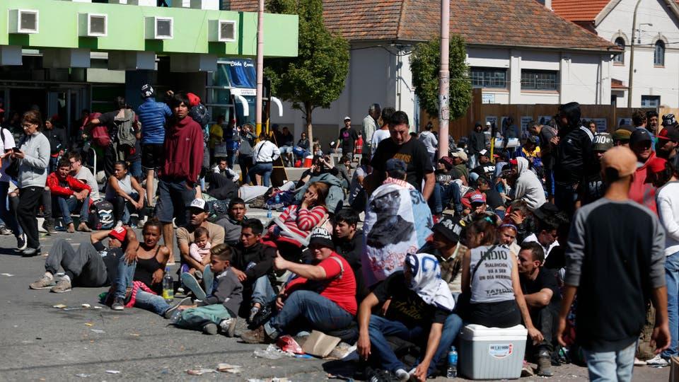 No hay baños suficientes quimícos en la ciudad. Foto: LA NACION / Mauro V. Rizzi / Enviado especial