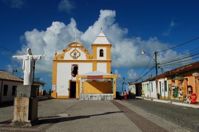 La iglesia de Arraial D Ajuda. Damián Hernández