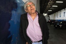 Moyano, ayer, en el garaje del edificio de Azopardo de la CGT