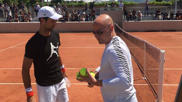 La primera imagen de Novak Djokovic con su nuevo entrenador, Andre Agassi