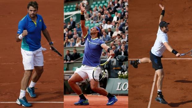 Wawrinka, Nadal y Murray, campeones de Grand Slam