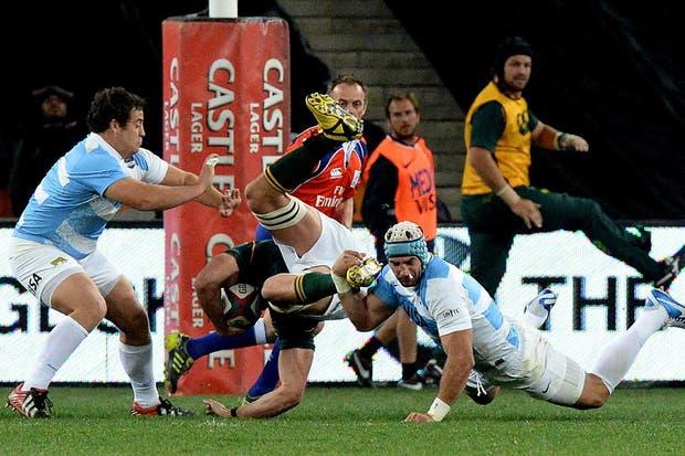 El equipo argentino cayó ante Sudáfrica en su segundo estreno en el Rugby Championship.  Foto:AFP