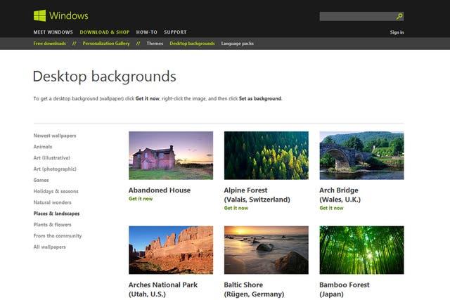 Conocido por contar con varios fondos de pantalla destacados, Microsoft también cuenta con una amplia galería de imágenes para decorar el escritorio
