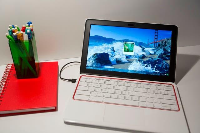 Una Chromebook 11 de HP; se vende a 279 dólares en Estados Unidos