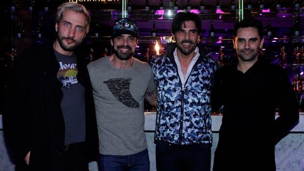 Ronda de galanes: Luciano Cáceres, Luciano Castro, Juan Darthés y Gonzalo Heredia. Foto: Prensa El Trece