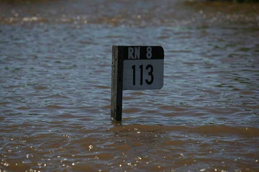 San Antonio de Areco es, junto con Luján, una de las localidades más afectadas por las inundaciones. Foto: LA NACION / Ricardo Pristupluk
