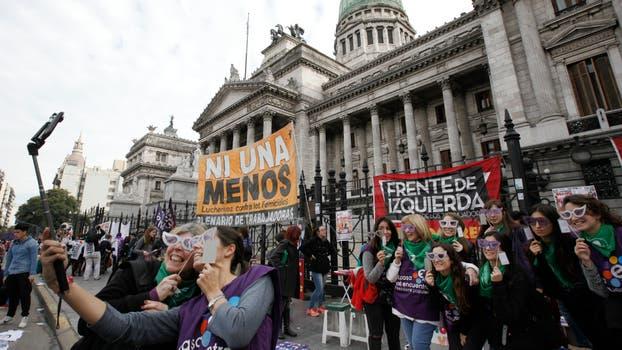 Tercera marcha contra la violencia de género en la Ciudad de Buenos Aires. Foto: LA NACION / Hernán Zenteno