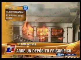 Se incendia un frigorífico en Burzaco