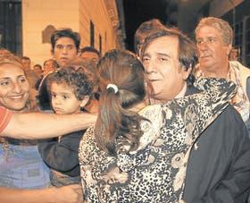 El ex gobernador Ramón Saadi reapareció en la noche del triunfo de su prima Corpacci