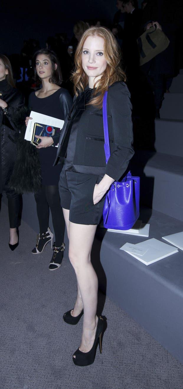 Jessica Chastain con un estilo más informal y decontracté. ¿Qué te parecen sus shorts? ¿No tendrá frío?. Foto: Gentileza Brandy PR