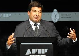 El titular de la Afip, Ricardo Echegaray