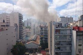 Se incendió un edificio en Uriarte y Güemes, en Palermo