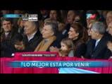 Las tribunas de La Rural celebraron la presencia de Mauricio Macri. Fuente: TN