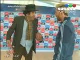 Minguito y Messi pateando penales - Polémica en el bar