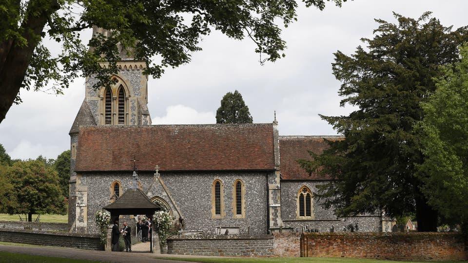 La iglesia San Marcos en Englefield, al oeste de Londres, un pueblo cerca de la casa familiar de los Middleton. Foto: AP / Kirsty Wigglesworth