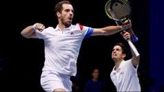Francia ganó el dobles frente a Bélgica y está a un paso de conquistar la Copa Davis