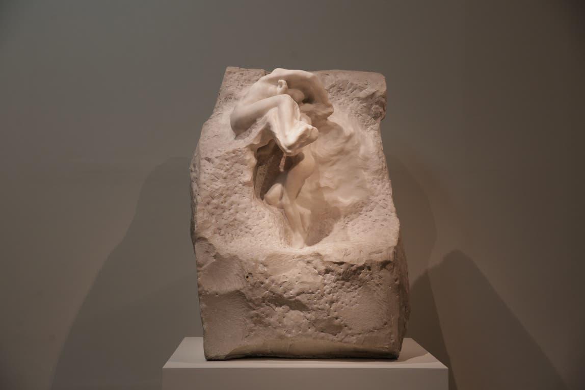 """La emblemática """"La tierra y la luna"""" que Schiaffino compró a Rodin. Foto: LA NACION / Soledad Aznarez"""