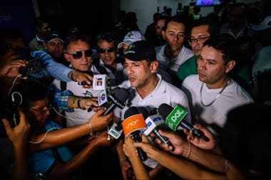 Luis Fernando Camacho, líder del frente más radical de la oposición en Bolivia