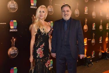 Fabián Doman junto a su pareja, María Laura de Lillo