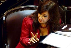 Cristina Kirchner defendió el proyecto oficialista y criticó a la oposición, especialmente a Menem y a Terragno