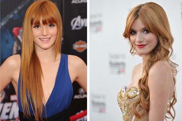 Siguiendo con las más jovencitas, la actriz Bella Thorne es fanática de su melena pelirroja. Foto: dhaircut.com
