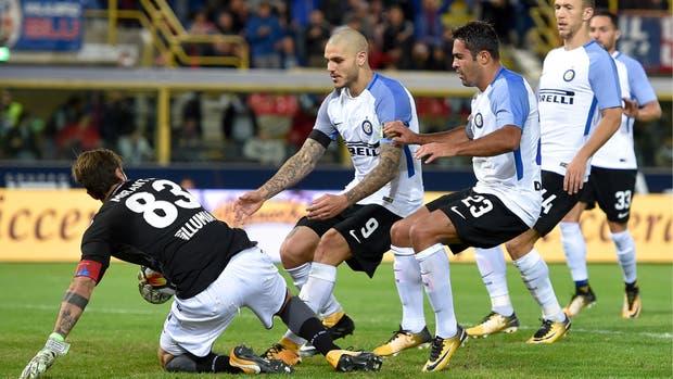 Bologna-Inter, Serie A: Mauro Icardi, de penal, empató el partido de visitante