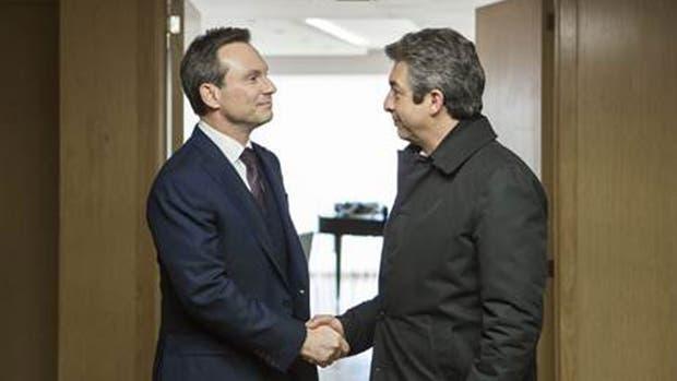 Christian Slater y Ricardo Darín en La cordillera