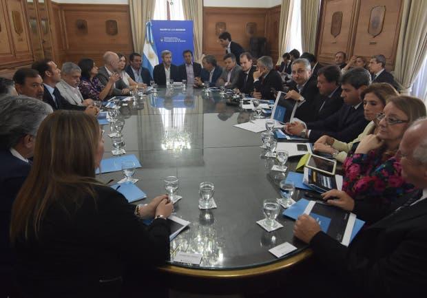 Una de las últimas reuniones con gobernadores en la Casa Rosada, en diciembre