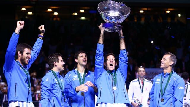 Del Potro levanta la Copa Davis; un día histórico para el tenis argentino
