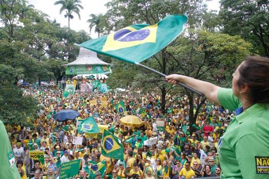 Los colores de la bandera de Brasil fueron protagonistas en Belo Horizonte. Foto: EFE
