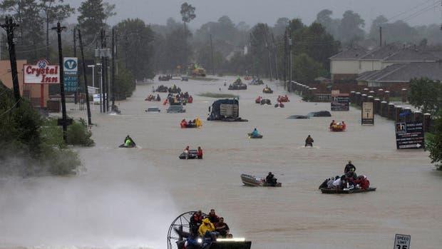 El huracán Harvey provocó inundaciones en Houston