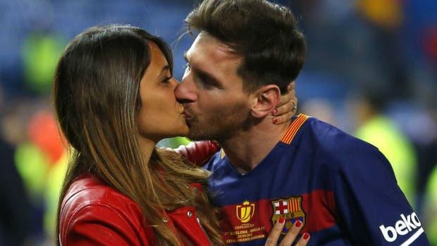 Messi y Antonella, juntos en el último partido de la temporada, la final de la Copa del Rey