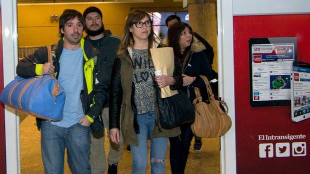 Melina, Leandro y Luciana Báez están desde el miércoles en Buenos Aires