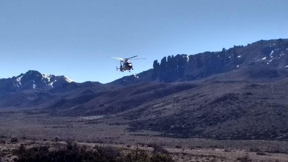 Los helicópteros sobrevolaron el áreas . Foto: Ricardo Pristupluk / Enviado especial